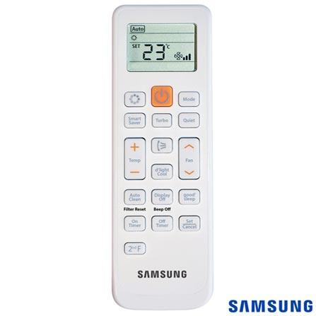 Ar Condicionado Split Samsung com 24.000 BTUs, Quente e Frio, Max Plus Branco - AR24KPFUAWQNAZ, Acima de 23.500 BTUs, B, 24.000 BTUs, Quente e Frio, 53,1 kWh/mês, Sim, Não especificado, Não, Sim, Sim, 12 meses, 43/33 dBA, 2528 W, Sim, Não especificado, Sim, Split, 1125 m³/min