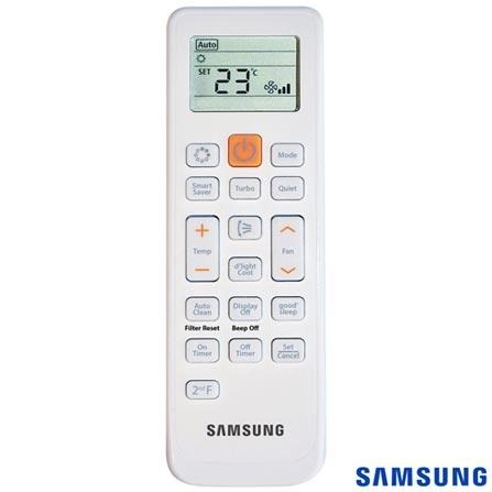 Ar Condicionado Split Smart Inverter Samsung com 24.000 BTUs, Quente e Frio, Branco - AR24KSSPASNNAZ, Acima de 23.500 BTUs, A, 24.000 BTUs, Quente e Frio, 52,7 kWh/mês, Sim, Não especificado, Sim, Sim, Sim, 12 meses, 36 dBA / 24 dBA, 2510 W, Sim, Sim, Sim, Split, 1026 m³/min