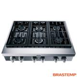 Rangetop Gourmand a Gás Brastemp com 06 Bocas, Inox - BDR90AR