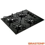 Cooktop Brastemp 4 Bocas, á Gás, Acendimento Super Automático, Touch Timer, Mega Chama - Preto - BRBDT62AEUNA
