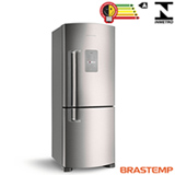 Refrigerador Inverse Brastemp de 02 Portas Frost Free com 422 Litros e Smart Bar Platinum - BRE50NK