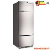 Geladeira de 01 Porta Frost Free Brastemp Clean All com 330 Litros Inox e Cinza - BRF36GR
