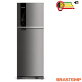 Refrigerador de 02 Portas Brastemp Frost Free com 375 Litros com Painel Eletrônico Inox - BRM45HK