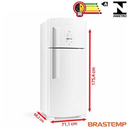 Refrigerador de 02 Portas Frost Free Brastemp com 403 Litros Branco - BRM48NB, 110V, 220V, Branco, 02 Portas, 02 Portas, Não, De 351 a 500 litros, 403 Litros, 317 Litros, 86 Litros, Sim, Não, Sim, Não, Não, Não se aplica, Não, Não, Não, 01, Não especificado, Não, Não, Sim, Não, A, 53 kWh/mês, 12 meses