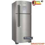Refrigerador de 02 Portas Frost Free Brastemp Ative com 403 Litros Inox e Cinza - BRM48NK