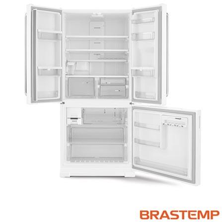 Refrigerador Side Inverse de 03 Portas Brastemp com 540 Litros Branca - BRO80AB, 110V, 220V, Branco, Acima de 500 litros, 540 Litros, 166 Litros, 374 Litros, 72,7 kWh/mês, Sim, Não, Sim, 03 Portas, Freezer Invertido, A