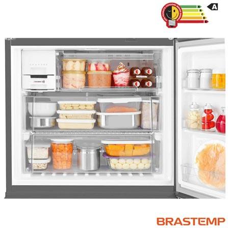 Refrigerador Side by Side Inverse Brastemp de 03 Portas Frost Free em Evox com 540 Litros Cor Inox e Cinza - BRO80AK, 110V, 220V, Inox, Acima de 500 litros, 540 Litros, 166 Litros, 374 Litros, Não especificado, Sim, Não, Sim, 03 Portas, Freezer Invertido, A