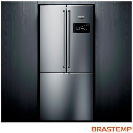 Geladeira/refrigerador 540 Litros 3 Portas Inox Gourmand - Brastemp - 220v - Bro81arbna
