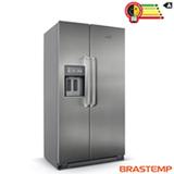 Refrigerador Side by Side Brastemp Gourmand com 02 Portas Frost Free com 539 Litros Inox - BRS75BR