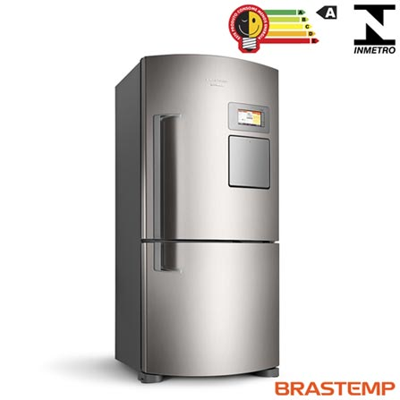 Refrigerador Inverse Maxi de 02 Portas Frost Free Brastemp com 565 Litros Inox - BRV80, 110V, 220V, Inox, Freezer Invertido, 02 Portas, Não, Acima de 500 litros, 565 Litros, 394 Litros, 179 Litros, Sim, Sim, Sim, Sim, Sim, Não, Não, Sim, Sim, 03, Vidro temperado removíveis, Sim, Não, Não, Sim, A, 68 kWh/mês, 12 meses