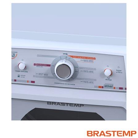 Secadora de Roupas de Piso Elétrica Brastemp 10kg Branca - BSR10AB, 110V, 220V, Branco, Não especificado, Até 10 kg, 10 kg, 4,80 kWh, Elétrico, 12 meses, Não especificado, Não