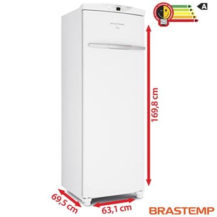 Freezer Vertical Brastemp de 228 Litros Frost Free Flex Branco - BVR28HB, 110V, 220V, Branco, Vertical, Sim, De 201 a 400 litros, 228 Litros, 228 Litros, Não se aplica, Sim, Não, Não, Não, Não, Não, Não especificado, 05 Prateleiras, Não, Não especificado, Não especificado, A, 12 meses