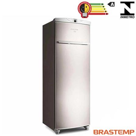 Freezer Vertical Brastemp de 228 Litros Frost Free Flex Inox e Cinza - BVR28HR, 110V, 220V, Inox, Vertical, Sim, De 201 a 400 litros, 228 Litros, 228 Litros, Não se aplica, Sim, Não, Não, Não, Não, Não, Não especificado, 05 Prateleiras, Não, Não especificado, Não especificado, 12 meses