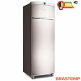 Freezer Vertical Brastemp de 228 Litros Frost Free Flex Inox e Cinza - BVR28HR
