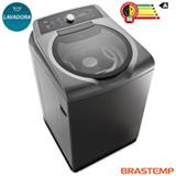 Lavadora de Roupas Brastemp 15kg Double Wash Grafite com 07 Programas de Lavagem e Enxague Anti Alérgico - BWD15A9