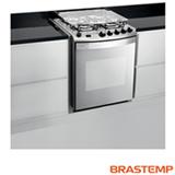 Fogão de Embutir de 4 Bocas Brastemp SI Ative Flat Top com Acendimento Automático, Grill, Timer, Inox - BYS4GAR