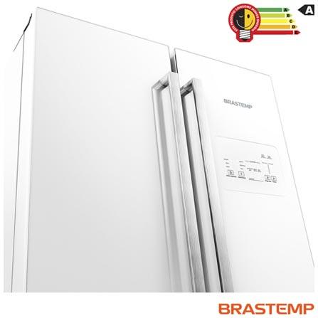 Side Inverse French Door de 03 Portas Frost Free Brastemp com 540 Litros Branco - GRO80AB, 220V, Branco, Acima de 500 litros, 540 Litros, 166 Litros, 374 Litros, 72,2 kWh/mês, Não, Não, Sim, 12 meses, 03 Portas, Freezer Invertido, A