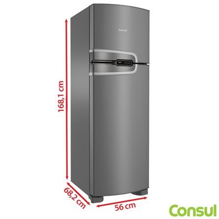 Refrigerador de 02 Portas Frost Free Consul com 275 Litros Platinum - CRM35, 110V, 220V, Inox, 02 Portas, 02 Portas, Não, De 141 a 350 litros, 275 Litros, 215 Litros, 60 Litros, Sim, Não, Não, Não, Não especificado, Não se aplica, Não se aplica, Não, Não, 01, Vidro, Não, Não, Não, Sim, A, 37,1 kWh/mês, 12 meses