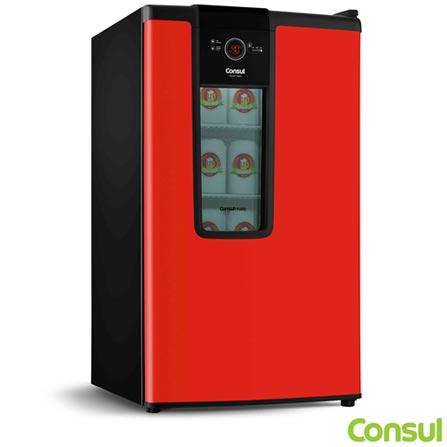 Cervejeira Vertical Consul de 82 Litros Frost Free Vermelho - CZD12AV, 110V, 220V, Vermelho, Vertical, Sim, 82 Litros, Sim, Não, Não, Não, 03 Prateleiras, Não, Não especificado, 25 kWh, 12 meses