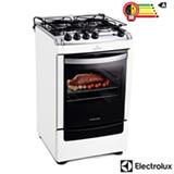 Fogão de Piso 4 Bocas Electrolux Super Chef com Acendimento Automático, Super Forno Autolimpante Branco - 52SB