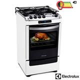 Fogão de Piso 4 Bocas Electrolux Chef Timer com Acendimento Automático, Branco - 52SRB