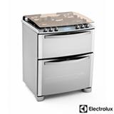 Fogão de Piso Electrolux i-Kitchen com Acendimento Super Automático, Forno Duplo Inox - 76DIX