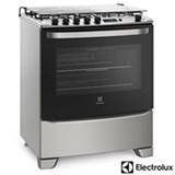 Fogão de Piso 5 Bocas Electrolux com Porta Full Glass, Timer Digital, Prata - 76RSS