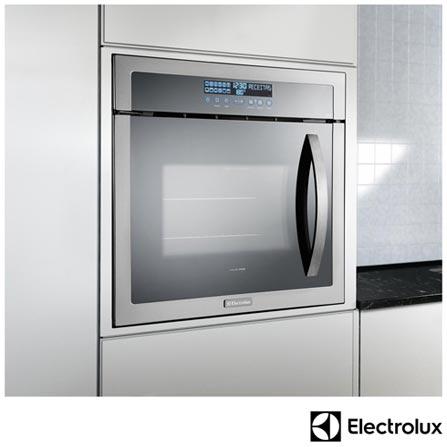 Forno Eletrico de Embutir 80 Litros, 220V Electrolux - Inox - OE9ST22089 + Microondas de Embutir, 34 Litros, 220V - Inox, 0, Acima de 60 litros