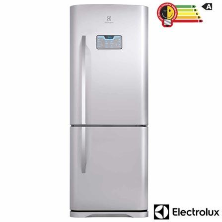 Refrigerador Bottom Freezer Electrolux de 02 Portas Frost Free com 454 Litros Painel Blue Touch Inox e Cinza - DB52X, 110V, 220V, Inox, 02 Portas, 02 Portas, Não, De 141 a 350 litros, 454 Litros, 310 Litros, 144 Litros, Sim, Sim, Sim, Sim, Não, Não se aplica, Não, Não, Sim, 01, Removíveis, Não, Não, Sim, Sim, A, 59 kWh/mês, 12 meses