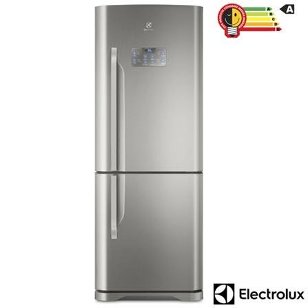 Refrigerador Bottom Freezer Electrolux de 02 Portas Frost Free com 454 Litros Painel Eletrônico Inox - DB53X, 110V, 220V, Inox, Freezer Invertido, 02 Portas, Não, De 141 a 350 litros, 454 Litros, 310 Litros, 144 Litros, Sim, Sim, Sim, Não, Sim, Não, Não, Não, Não, 02, Vidro temperado removíveis, Não, Sim, Não, Sim, A, 59 kWh/mês, 12 meses
