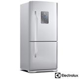 Refrigerador Bottom Freezer Electrolux de 02 Portas Frost Free com 598 Litros, Painel Blue Touch, Inox e Cinza - DB83X
