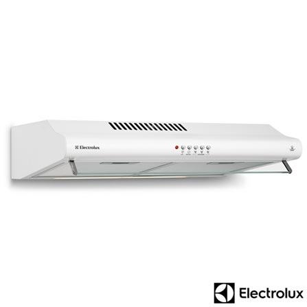Depurador de Ar de 60 cm Electrolux com 3 Velocidades, Exaustor e 02 Filtros Branco - DE60B, 110V, 220V, Branco, Não especificado, 60 cm, Sim, Sim, 390 m³/h, Manual, Não, Sim, Sim, Não especificado, Não especificado, 03, 205 W, 40 W, 0,205 kWh, 110V - 1,6 A e 220V - 0,93 A, 60 Hz, Não especificado, 12 meses
