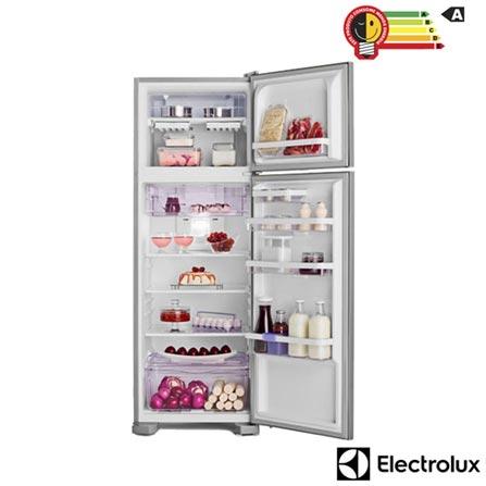 Refrigerador de 02 Portas Frost Free Electrolux com 310 Litros Inox e Cinza - DF36X, 110V, 220V, Inox, 02 Portas, 02 Portas, Não, De 141 a 350 litros, 310 Litros, 247 Litros, 63 Litros, Sim, Sim, Sim, Sim, Não, Não se aplica, Não, Não, Não, 01, Vidro temperado removíveis, Não, Não, Não, Sim, A, 43,6 kWh/mês, 12 meses
