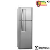Refrigerador de 02 Portas Electrolux Frost Free com 382 Litros Painel Blue Touch Inox e Cinza - DF42X