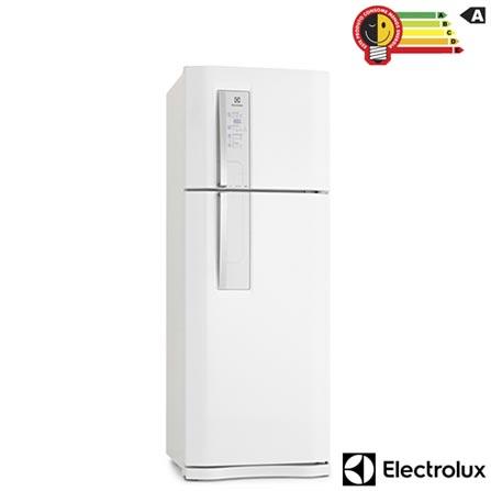Refrigerador de 02 Portas Frost Free Electrolux Blue Touch com 459 Litros Branca - DF52, 110V, 220V, Branco, 02 Portas, 02 Portas, Não, De 141 a 350 litros, 459 Litros, 346 Litros, 113 Litros, Sim, Sim, Sim, Sim, Sim, Não, Não, Sim, Sim, 01, Vidro temperado removíveis, Não, Não, Sim, Sim, A, 58 kWh/mês, 12 meses