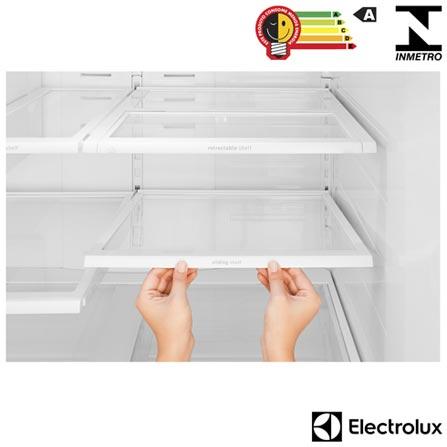 Refrigerador French Door de 03 Portas Frost Free Electrolux com 634 Litros Inox e Cinza - FDI90, 110V, 220V, Inox, Acima de 500 litros, 634 Litros, 185 Litros, 449 Litros, 78 kWh/mês, Sim, Sim, Sim, 03 Portas, French Door, A