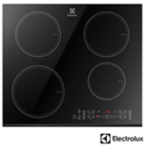 Cooktop por Indução Electrolux Vitrocerâmico com 04 Bocas, 09 Níveis de Potência, Painel Touch, Preto - IC60