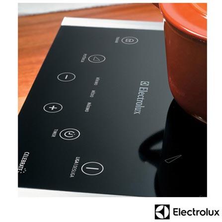 Cooktop por Indução de 1 Boca Electrolux com Acendimento Eletrônico, 6 Níveis de Potência, Touch Celebrate Preto - ICP30, 110V, 220V, Preto, Elétrico, 01 Boca, Eletrônico, Indução, Touch, Sim, Não se aplica, Não especificado, Inox, Não, Não especificado, Não especificado, 12 meses