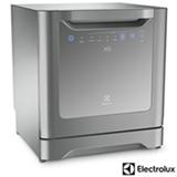 Lava-Loucas Electrolux Prata com 08 Servicos, 06 Programas de Lavagem e Painel Blue Touch - LE08S