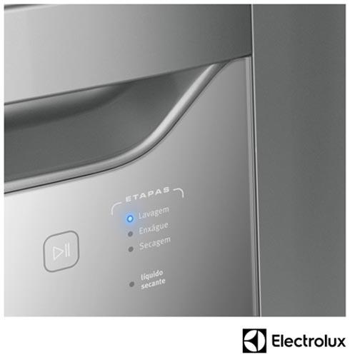 Lava-Loucas Electrolux Prata com 08 Servicos, 06 Programas de Lavagem e Painel Blue Touch - LE08S, 110V, 220V, Prata, 08 Serviços, 06 Programas, Sim, Não especificado, Sim, Líquido secante, Não especificado, Não especificado, Não especificado, Sim, Sim, 110V - 780 kWh e 220V - 1400 kWh, Não especificado, Não especificado, 60 Hz, Não especificado, A, 12 meses