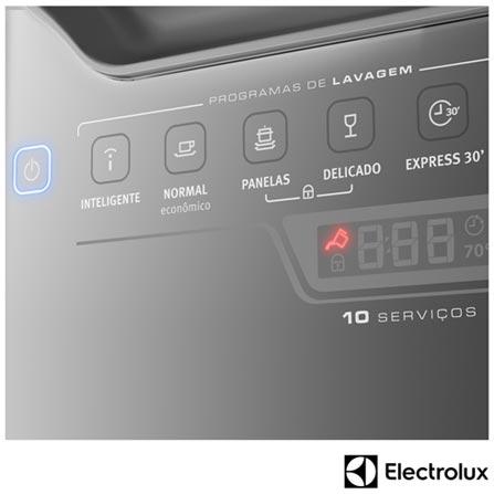 , 110V, 220V, Inox, 10 Serviços, 06 Programas, Sim, Não, Sim, Líquido secante, Não, Sim, Não, Sim, Sim, 110V - 1250 kWh e 220V - 1760 kWh, Não especificado, Não especificado, Não especificado, até 70ºC, A, 12 meses