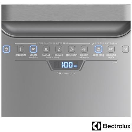 , 110V, 220V, Inox, 14 Serviços, 06 Programas, Sim, Não, Sim, Líquido secante, Não, Sim, Não, Sim, Sim, 110V - 1250 kWh e 220V - 1760 kWh, Não especificado, Não especificado, Não especificado, até 70ºC, A, 12 meses