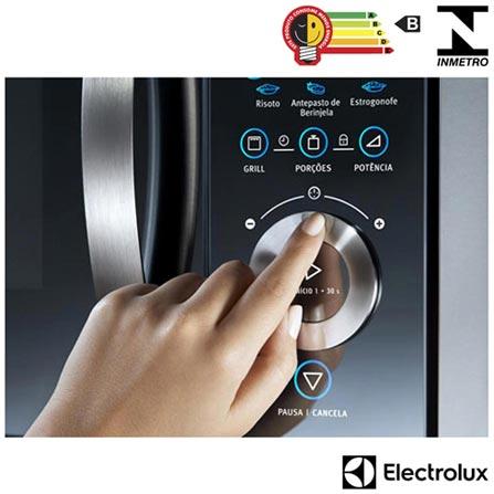Micro-ondas de Embutir Electrolux com 28 Litros de Capacidade e Grill Inox - MB38X, 110V, 220V, Inox, Embutir, De 21 a 29 litros, 28 Litros, Aço Inox, Não, Sim, Não, Não especificado, Sim, 900 W, B, Não especificado, Não especificado