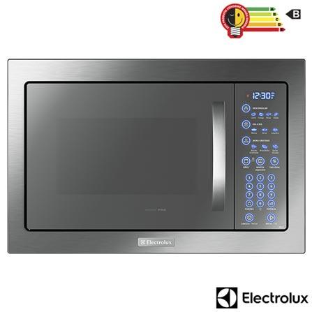 Micro-ondas de Embutir Electrolux Home Pro com 43 Litros de Capacidade e Grill Inox - MB43T, 110V, 220V, Inox, Embutir, Acima de 30 litros, 43 Litros, Aço Inox, Sim, Sim, Sim, 10, Sim, 1450 W, B, Não especificado