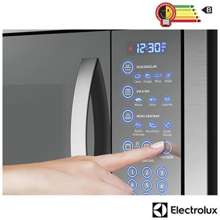 ae3f6376a Micro-ondas de Embutir Electrolux Home Pro com 34 Litros de Capacidade e  Grill Inox ...