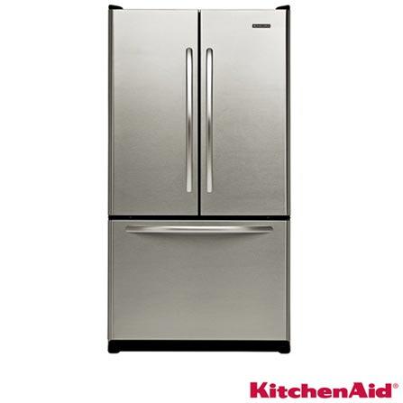 Refrigerador 3 Portas 553L Frost Free, com Dispenser de Água e Ice Maker Internos, Painel Eletrônico, Função Max Cool,, 110V, Inox, Acima de 500 litros, 553 Litros, 03 Portas, Refrigerador