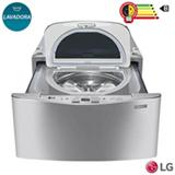 Lavadora de Roupas LG Mini Wash™ 2,5 kg Aço Escovado com 8 Programas de Lavagem - WD100CV.ASSFBRS