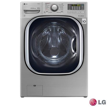 Lava & Seca 16 Kg Titan LG com 14 Programas de Lavagem em Aço Escovado - WD1316AD, 110V, 220V, Aço Escovado, Frontal, Acima de 10 kg, 16 kg, 09 kg, Frio - 0,42 kWh e Quente - 2,65 kWh, Não, Não, Não especificado, Elétrica, Sim, Não, Aço Inox, Manual, 14, 01, Lava-Seca, Sim, 1300 rpm, A