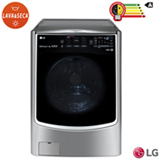 Lava & Seca 17 Kg LG TWINWash™ Aço Escovado com 14 Programas de Lavagem - WD17VTS6.ASSFBRS