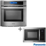 Forno Eletrico de Embutir Panasonic, 70 L. Inox - HL-CX666SRPK + Micro-ondas de Embutir, 28 L. Cinza - NN-GB686SRUK